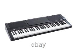 The ONE Music Group The ONE Smart Piano 61-Key Portable Keyboard Black Light Up