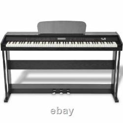 US 88-Key Digital Piano with Pedals Black Melamine Board Keyboard Music