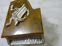 Vintage Grand Piano Music Box Thorens Swiss Gold Glit Piano With Keyboard Bakelite