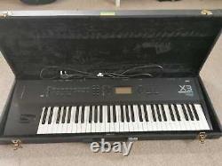 Vintage Korg X3 Music Workstation Synthesiser Keyboard Piano Working w Hard Case