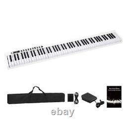 White 88 Key Digital Piano MIDI Keyboard with Pedal and Bag Music Instrument Home