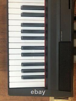 Yamaha P105 Digital Piano Keyboard With Yamaha Music Stand And Foot Pedal