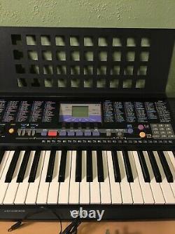 Yamaha PSR-190 61-Key Piano Keyboard with Music Rest & Power Cord