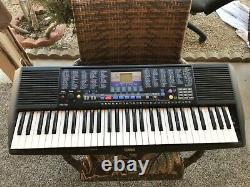 Yamaha PSR-190 61-Key Piano Keyboard with Music Rest & Power Cord & Battery D