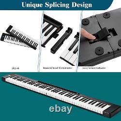 2 En 1 Clavier De Piano Numérique Attachable 88/44 Toucher Clé De Musique Sensible Avec MIDI