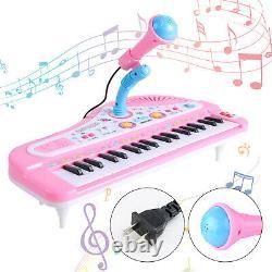 37 Key Kids Electronique Clavier Tout-petits Piano Jouet Musical + MIC 24 Chansons Demo