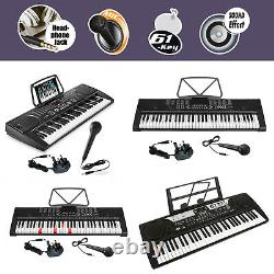 61 Key Digital Electronic Keyboards Mp3 Musique Piano Instruments MIC Stand Tabouret