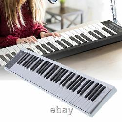 61 Key Digital Smart Piano MIDI Keyboard Rechargeable Musical Instrument Kit+bag