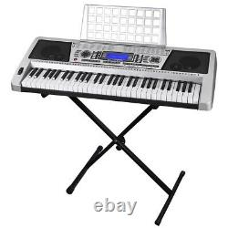 61 Key Electric Music Keyboard Piano 345 Timbres Organ Talent Pratique Avec Stand