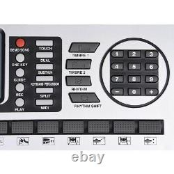 61 Key Electric Piano Music Digital Keyboard Affichage LCD 110v/batteries