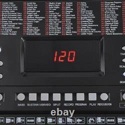 61 Key Electronic Music Keyboard LCD Display Piano Music Sheet Stand