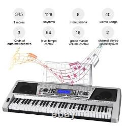 61 Key Electronic Piano Clavier Musique Clavier Organe Avec X Stand Portable