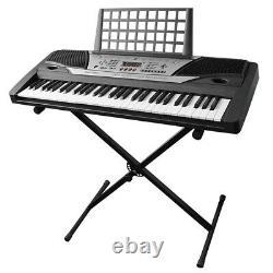 61 Key Music Clavier Électrique Numérique Piano Orgue Débutant Avec Stand Talent Gift