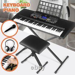 61-key Digital Music Piano Clavier Portable Electronic Musical Cadeau De Noël