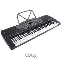 61-key Digital Music Piano Clavier Portable Instrument De Musique Électronique