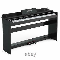 88 Clavier LCD Numérique Électrique Piano Music Avec Support+adaptateur+3-pedal Board