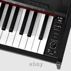 88 Clés Pondérées Musique Numérique Piano Clavier Instrument Électronique Avec Banc Nouveau
