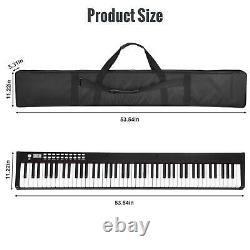 88 Key Digital Piano MIDI Clavier Avec Pedal And Bag Music Instrument Blanc Noir