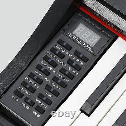 88 Key Electric Digital Music Electronic Keyboard Piano Noir Avec Haut-parleurs