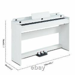 88 Key Electric Music Clavier Piano Avec Adaptateur Stand 3 Pedal Board LCD Numérique