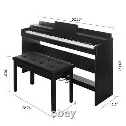 88 Key Electric Piano Keyboard Music Débutant Avec3 Pedal Board Casque Noir