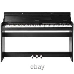 88 Key Music Clavier Piano Avec Adaptateur Stand 3 Pedal Board Électrique LCD Numérique