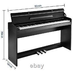 88 Key Music Clavier Piano Avec Adaptateur Stand 3 Pedal Board Piano Électrique Us