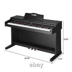 88 Touches Electric Piano Digital LCD Keyboard Avec Music Stand+adaptateur+3-pedal Board