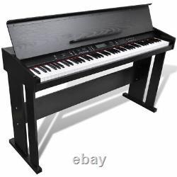 88-key Electronic Keyboard Portable Digital Music Piano Avec Music Stand Classic