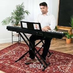 88-key Piano Set Digital Full Size Sustain Pedal Stand Keyboard Musical Piano Us