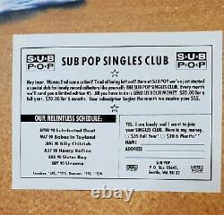 89-90 Sub Pop Simple 45's Collection (10) Excellent État. Voir Pics 4 Artiste