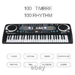 Abs Piano Clavier De Musique Numérique Électrique De 54 Clés Pour Les Débutants Usb