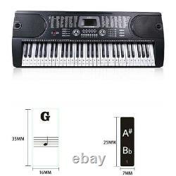 Autocollants Piano Clavier De Musique Débutant 88/61/54/49keys Set