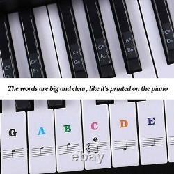 Autocollants Piano Clavier De Musique Débutant 88/61/54/49keys Set (coloré)