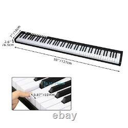 Black 88 Key Digital Piano Keyboard Avec Pedal And Bag Music Instrument Accueil