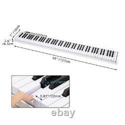 Blanc 88 Key Digital Piano MIDI Clavier Avec Pedal And Bag Music Instrument Accueil