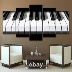 Classique Piano Clavier Musique Instrument 5 Pièces Toile Wall Poster Home Decor