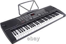 Clavier De Musique D'orgue Électrique Pour Piano Électronique À 61 Clés Avec Support, Microphone