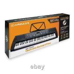 Clavier De Musique D'orgue Électrique Pour Piano Électronique À 61 Clés Hamzer Avec Support, Microph