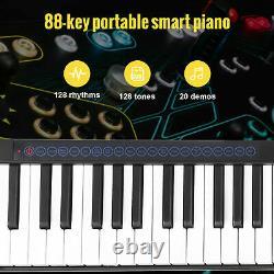 Clavier Électronique 88 Clé Portable Musique Numérique Piano Cadeau Jeune Débutant