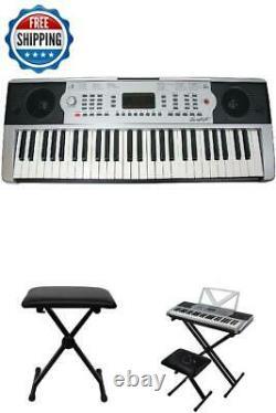 Clavier Numérique De Piano 54 Clés Portable Instrument De Musique Électronique Avec Support
