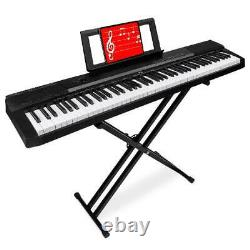 Clavier Numérique Piano 88 Key W Stand Set Demi-weighted Keys Sustain Pedal Music