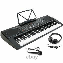 Clavier Piano Music Digital Electronic 61key Electric Microphone Casque Cadeau