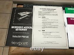 Commodore 64 Sight & Sound Musique Incroyable Piano Clavier Complet Dans La Boîte Cib