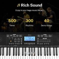 Donner Electronic Keyboard Piano 61 Key Digital Piano Avec Support De Partition Et