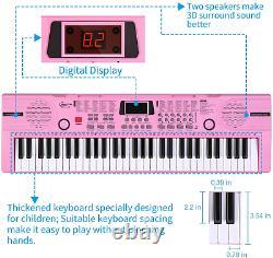Hricane Kids Piano Clavier, 61 Clés Débutant Electronique Clavier Musique Portable