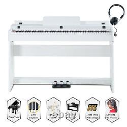 LCD 88 Key Music Keyboard Piano Withstand Adapter 3 Pedal Board Electric Digital