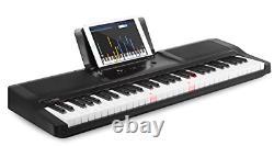Le Groupe One Music Le Clavier Portable One Smart Piano 61 Clés Black Light Up