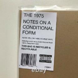 Les Notes De 1975 Sur Une Forme Conditionnelle' Neon Yellow Vinyl (vendu) Noacf