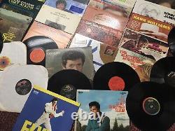Lot 40 Pays Vinyl Lp Hank Sr/davis/owens/elvis/pride/atkins/willie/hamgard